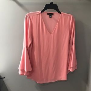Alfani peachy pink ruffle sleeve blouse! 10p